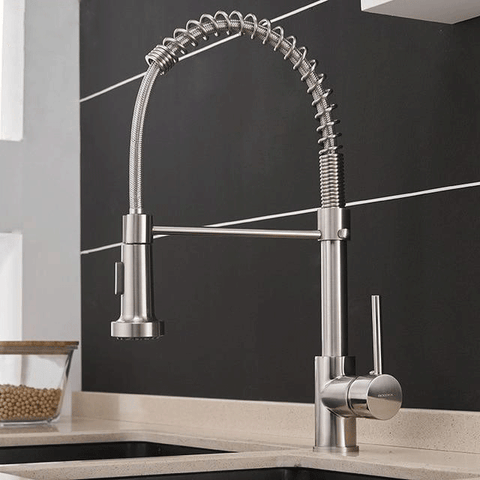 Modern Kitchen Faucet Rotating Swivel Brushed Nickel