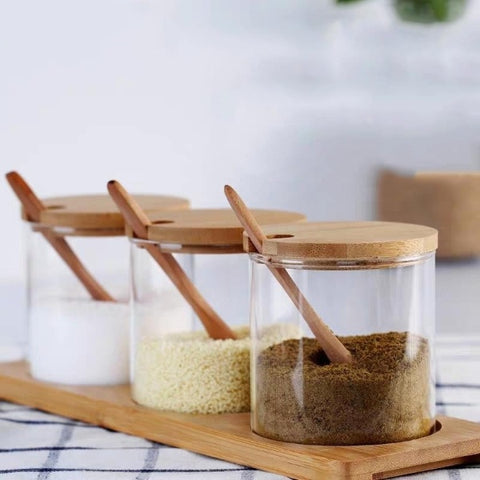 Image of Wooden Spoon Kitchen Spice Tool