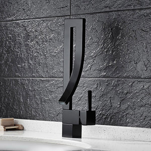Black Kitchen Sink Faucet Kitchen Tap Waterfall Basin