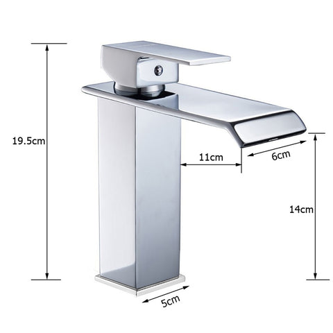Deck Mount Waterfall Bathroom Faucet Vanity Vessel Sinks
