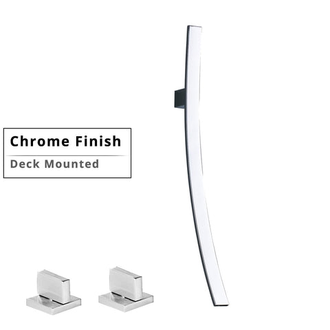 Image of Wall Mounted Waterfall Basin Faucet Bathroom Mixer Tap
