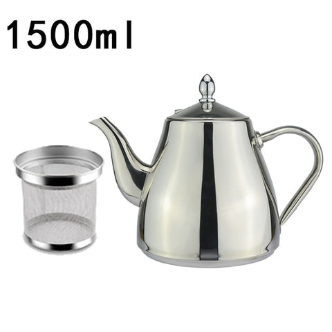 Image of Stainless Steel Tea Pot With Tea Strainer