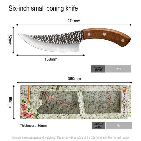 Survival Camping Forged Sliced Boning Chef Knife