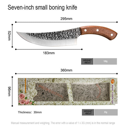 Image of Survival Camping Forged Sliced Boning Chef Knife