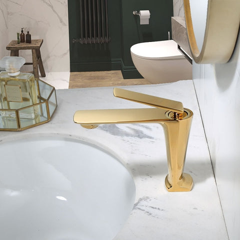 Image of Bathroom Faucet Black Basin Mixer Sink Faucet Tap