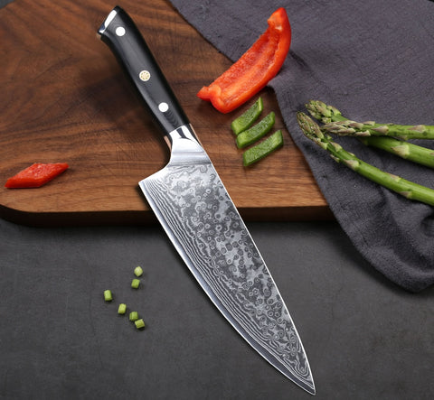 Damascus Steel Japanese Chef Knife 8""