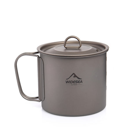 Image of Camping Mug Titanium Cup Tourist Tableware Picnic Utensils