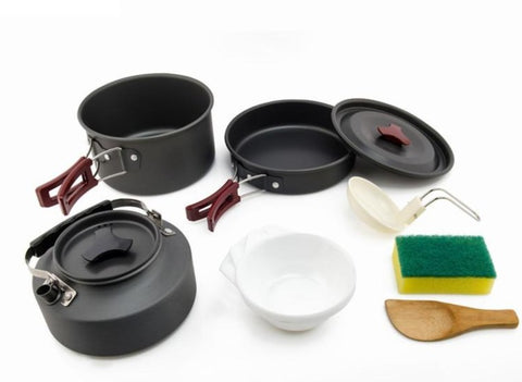 Camping Cookware Outdoor and Tableware Cooking Set
