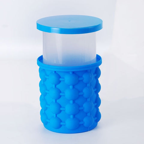 Image of Silicone Ice cream Bucket Mold with Lid