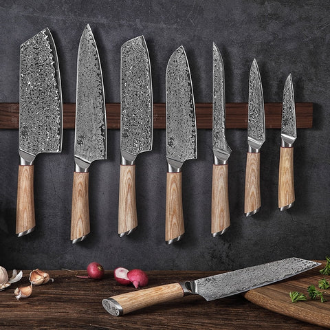 Image of 67-layer Damascus Steel kitchen knife