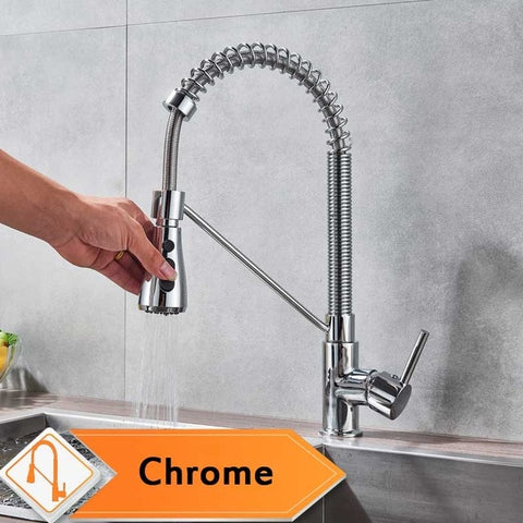 Image of Chrome Kitchen Faucet