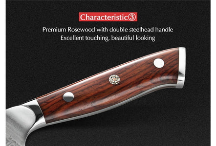 Steak Knife Rosewood Handle 5""