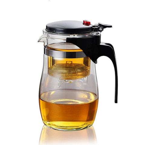 Image of Heat Resistant Borosilicate Glass Teapot