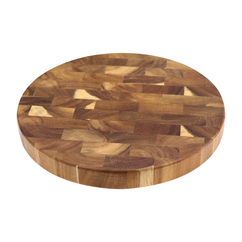 Image of Round End Grain Board, Butcher Block Board