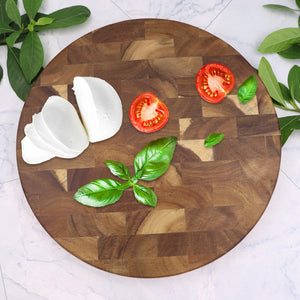Round End Grain Board, Butcher Block Board