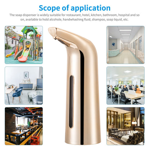 Image of Automatic Soap Dispenser, 400ML Smart Sensor