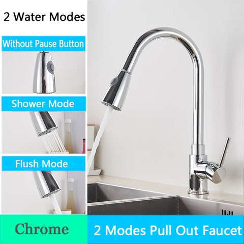 Kitchen Faucet with Pull Down Spout Chrome B