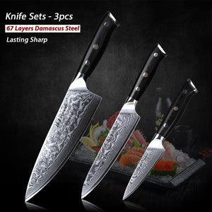 3PC Japanese Knives