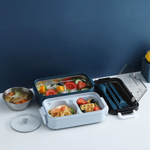 Double-layer Microwave Heating Food Storage Lunch Box