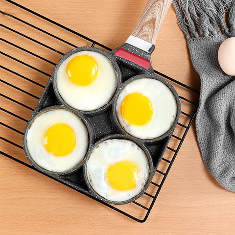 4 Hole Eggs Non Stick Burger Flat Frying Pan