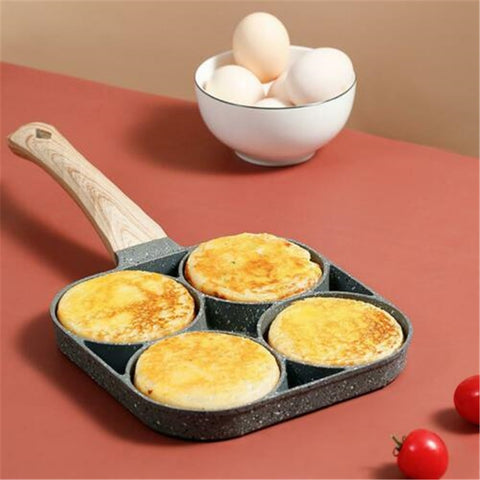 Two-hole Frying Pot Pan Thickened Omelet Pan