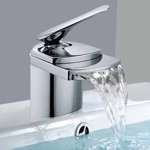 Image of Waterfall Bathroom Mixer Tap Basin Sink Faucet