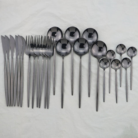 Image of 24Pcs Stainless Steel Dinnerware Set