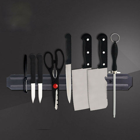 Image of Strong Magnetic Wall Mounted Knife Magnet Bar Holder & Display Rack