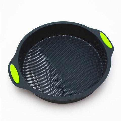 Image of 2pcs Round Shape Silicone Baking Cake Pan Set