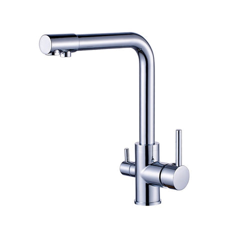 Image of Kitchen Faucet Dual Spout 360 Degree Rotation