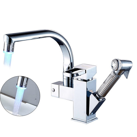 LED Kitchen Faucet Chrome
