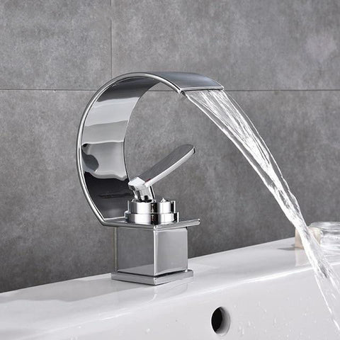 Contemporary Waterfall Faucet for Bathroom