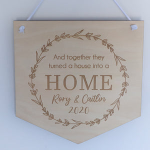 House Warming Plaque
