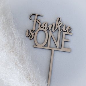 'is ONE 'cake Topper
