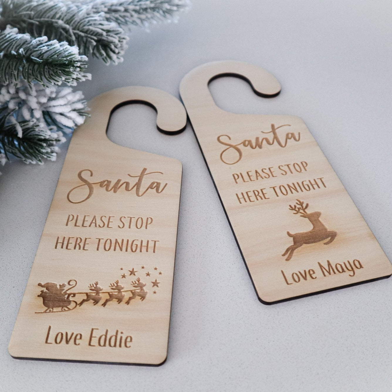Santa Please Stop Here Door Hanger