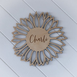 Personalised Sunflower Name Sign