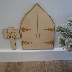 Elf Door and Sign