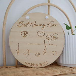 Mother's Day Engraved Drawing Plaque