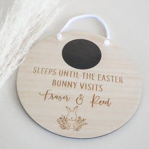 Easter Countdown Plaque | Sleeps Until Easter Bunny Visits Plaque