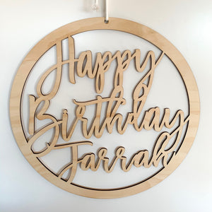 Personalised Birthday Hoop