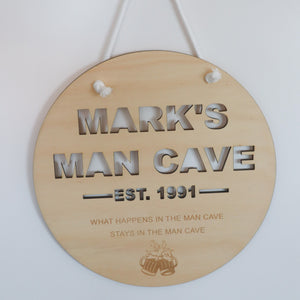 Man Cave Plaque/Sign