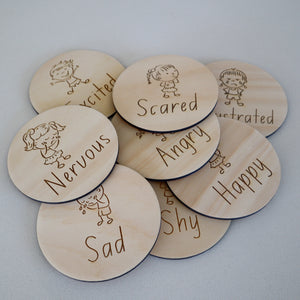 Wooden Emotion Discs