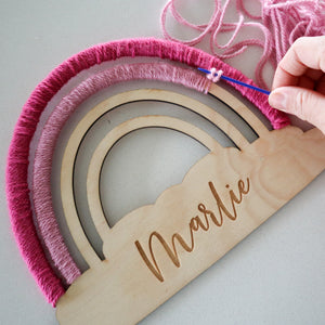 Personalised Wooden Rainbow Craft Kit