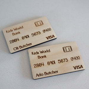 Wooden Play Credit Card | Kids Play | Imaginative Play