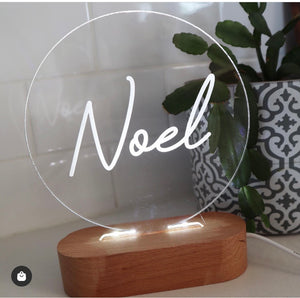 Personalised Round Night Light