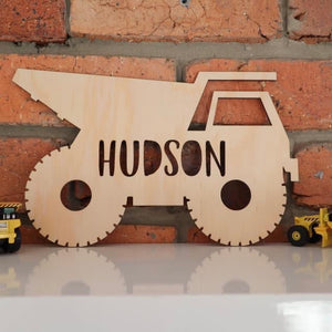 Truck Name Plaque