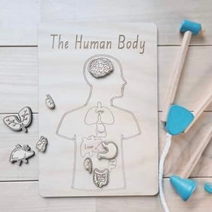 The Human Body Puzzle | Wooden Anatomy Puzzle