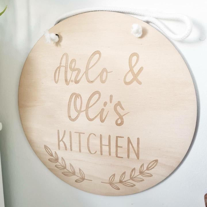 Personalised Kitchen Play Sign