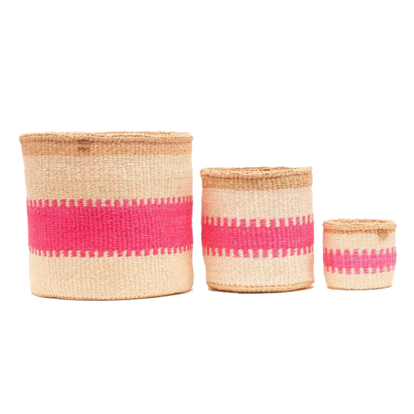Basket White & Pink - XS to XL