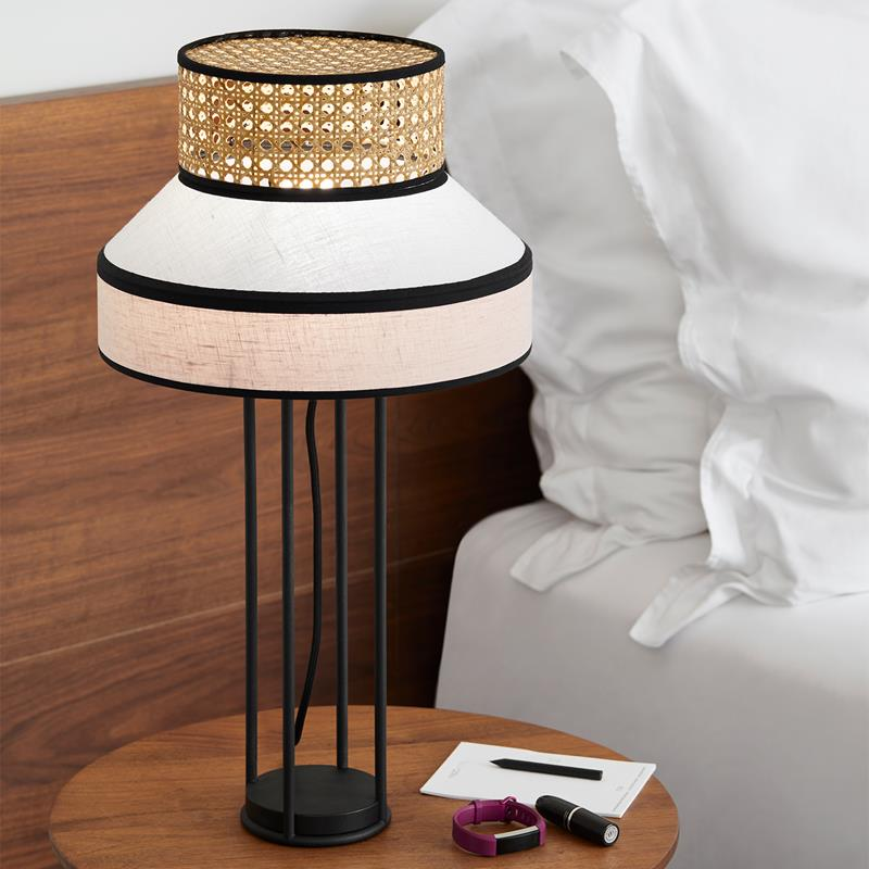 Table Lamp Singapour Grey & Pink